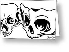 Abstract Skulls Greeting Card