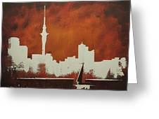 Abstract Skyline - Auckland Greeting Card
