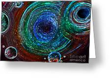 Abstract Space Art. Sparkling Antimatter Greeting Card