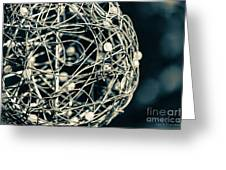 Abstract Sphere Greeting Card by Todd Blanchard