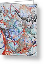 Abstract String Greeting Card