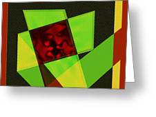 Abstract Squares And Angles Greeting Card