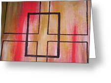 Abstract Squares Greeting Card by Becca Haney