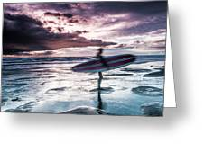 Abstract Surfer Greeting Card