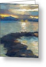 Abstract Tahoe Greeting Card