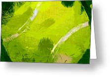 Abstract Tennis Ball Greeting Card