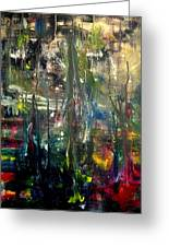 Abstract - The Man Buried In Moon River Greeting Card