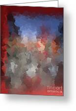 Red And Blue - Abstract Tiles No. 16.0110 Greeting Card