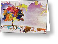 Abstract Tree 33w Greeting Card