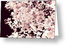 Abstract Tree Landscape Dark Botanical Art Rose Tinted Greeting Card