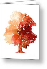Abstract Tree Watercolor Poster Greeting Card