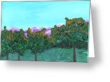 Abstract Trees Greeting Card by M Valeriano