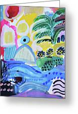 Abstract Tropical Landscape Greeting Card