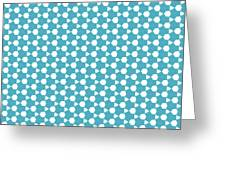 Abstract Turquoise Pattern 1 Greeting Card