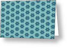 Abstract Turquoise Pattern 4 Greeting Card
