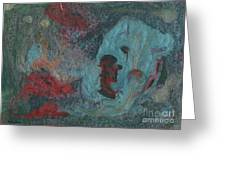 Abstract V Wr Greeting Card