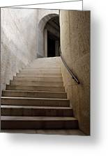 Abstract View Of Stone Curved Staircase At The World War I Monum Greeting Card