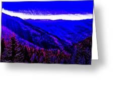 Abstract Views Greeting Card