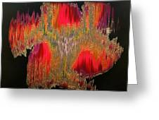 Abstract Visuals - The Sizzle Factor Greeting Card