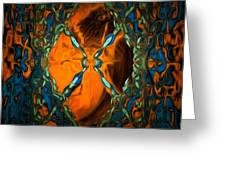 Abstract Visuals - Restructured Interior Greeting Card