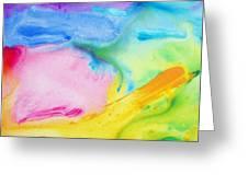 Abstract Vivid Greeting Card
