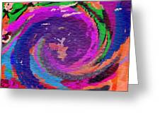 Abstract Water Dance Greeting Card