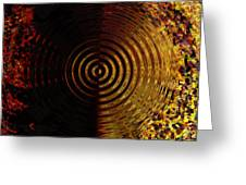Abstract Water Effect Greeting Card