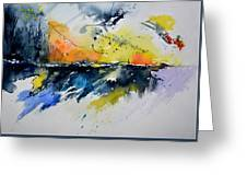 Abstract Watercolor 7007555 Greeting Card