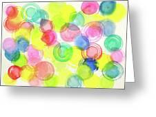 Abstract Watercolor Circles Greeting Card