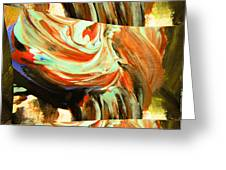 Abstract Whirls Within A Window Greeting Card