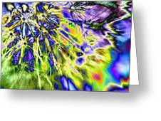 Abstract Wildflower 5 Greeting Card