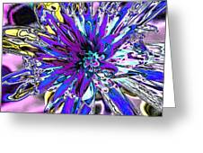 Abstract Wildflower 9 Greeting Card