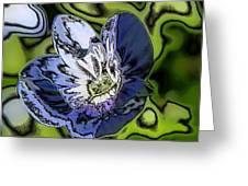 Abstract Wildflower Greeting Card