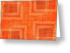 Abstract Window On Orange Wall Greeting Card