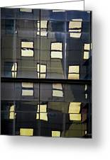 Abstract Window Reflections - Nyc Greeting Card