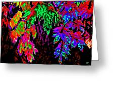Abstract Wisteria Greeting Card