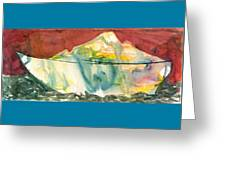 Abstract With A Boat Greeting Card