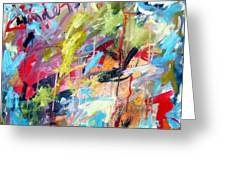 Abstract With Drips And Splashes Greeting Card