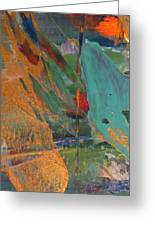 Abstract With Gold - Close Up 7 Greeting Card