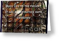 Abstract With Quote Greeting Card