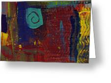 Abstract With Teal Spiral Greeting Card