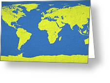 Abstract World Map 0317 Greeting Card