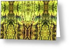 Abstract Yellow Trees Greeting Card