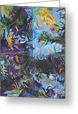 Abstracted Koi Pond Greeting Card