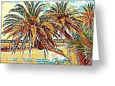Abstracted Loop Palms Greeting Card