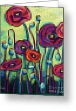 Abstracted Poppies Greeting Card