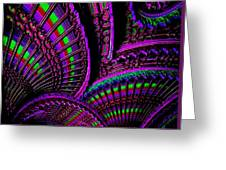 Abstracticalia Fantalia - In Purple - Catus 1 No. 1 L B Greeting Card