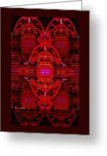 Abstracticalia In Red For Edith And Costa Halkiadakis V  A Greeting Card