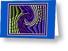 Abstracticalia Swirlia Tessalania Catus 1 No. 1 L B With Decorative Ornate Printed Frame. Greeting Card