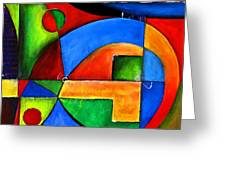 Abstraction 1724 Greeting Card